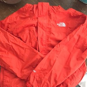 Boys north face rain coat